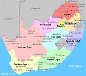 Outline Map Of South Africa With Major Cities by South Africa