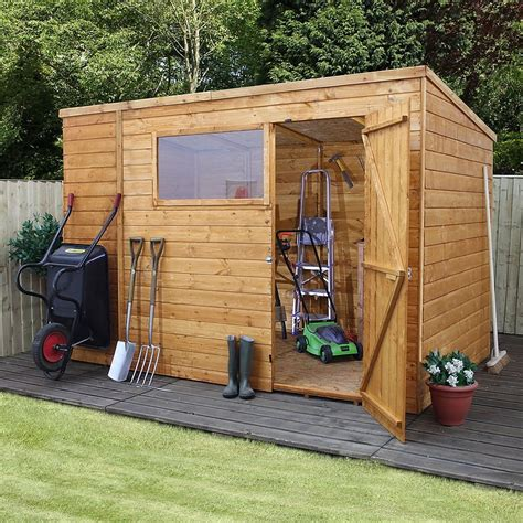 waltons tongue  groove pent wooden shed