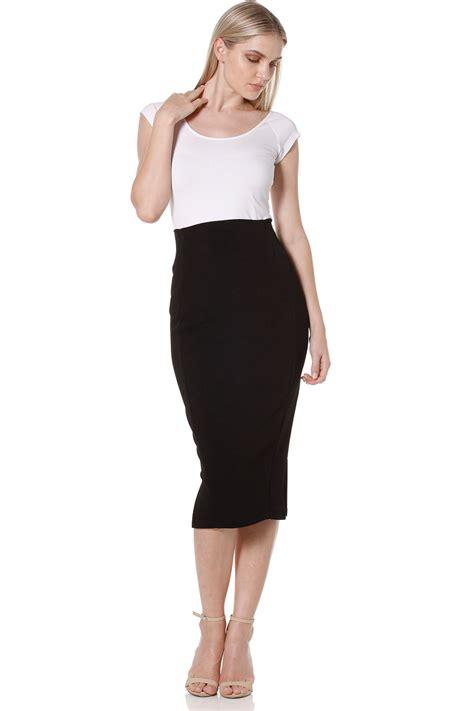 new sacha womens skirts pencil skirt black