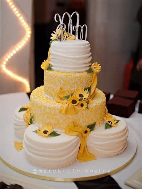 Wedding Reception Cake Designs by Sunflower Wedding Cake Cakecentral