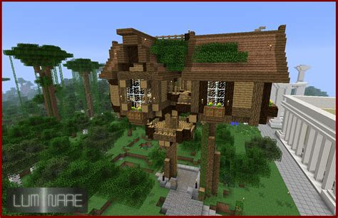 minecraft tree house minecraft treehouse by x luminare x on deviantart