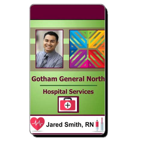 paramedic card template 17 best images about healthcare hospital badge on