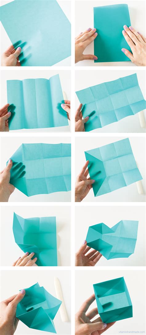 How To Make A Paper Box Out Of Paper - vitamini handmade diy origami gift box