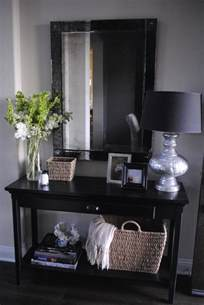 Entryway Decorating Ideas by The Honeybee Entryway Table Decor