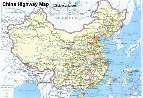 road map of china china highway maps travelchinaguide