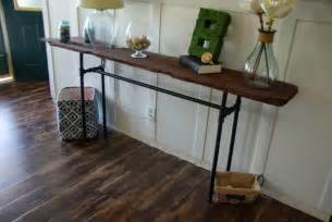 Diy Console Table Diy Industrial Console Table Blogher