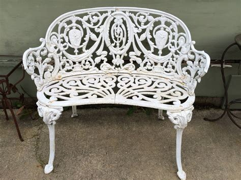 cast garden bench vintage cast iron garden bench at 1stdibs