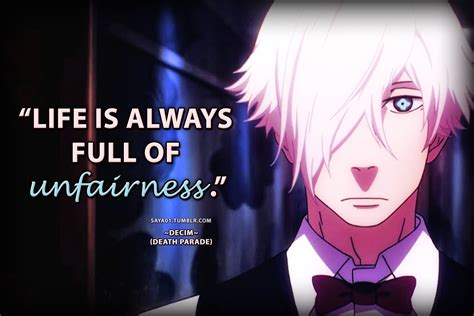 anime quotes about death anime quotes death parade quotes