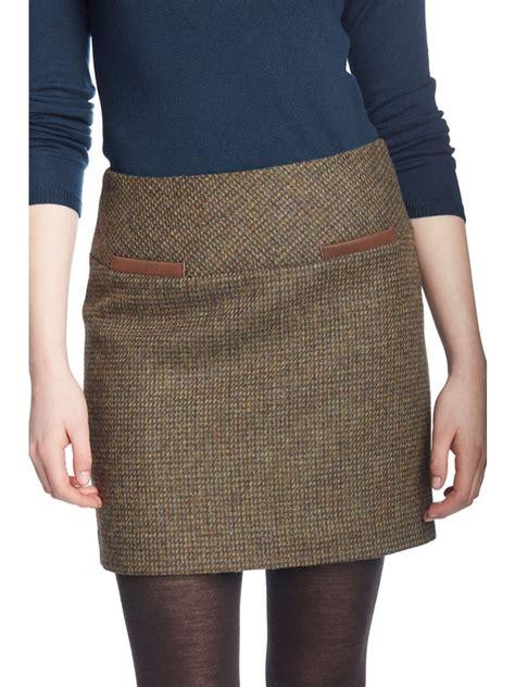 dubarry clover tweed mini skirt gilders