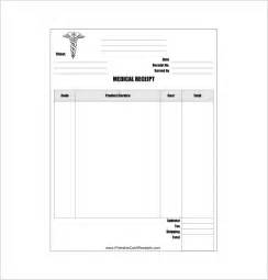 medical receipt template 7 free sle exle format