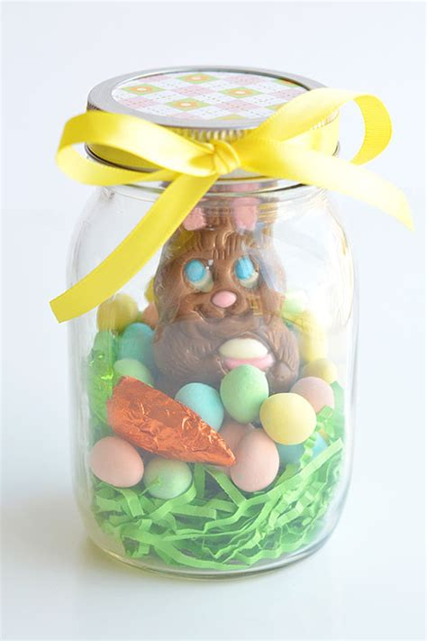 easter chocolate gifts mason jar easter gifts chocolate bunny mason jars