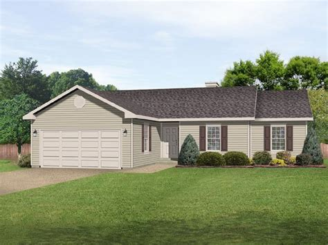 Affordable Ranch House Plans by Affordable Ranch With Alternate Exterior 22085sl
