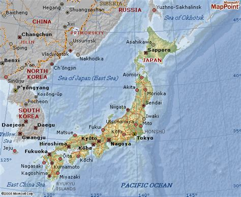 japan geography map japan map and geographical map of japan