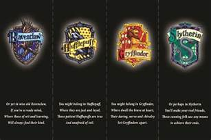 hogwarts houses harry potter crazies