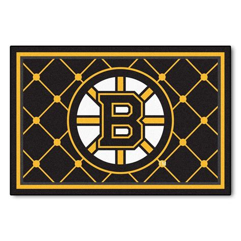 Bruins Plumbing by Fanmats Boston Bruins 5 Ft X 8 Ft Area Rug 10501 The