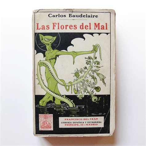 las flores del mal las flores del mal the flowers of evil cover illustration by rafael romero calvet 1923