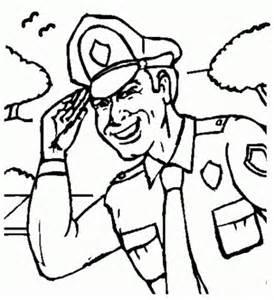 gambar mewarnai profesi polisi gambar mewarnai