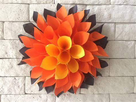 tutorial membuat vas bunga dari origami membuat bunga dahlia kertas raksasa wewo