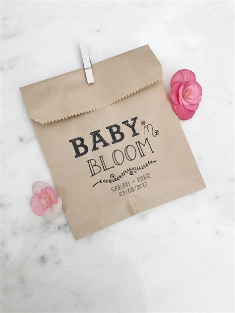 Baby Shower Favor Bags by Baby In Bloom Baby Shower Favor Bags Salted Design Studio
