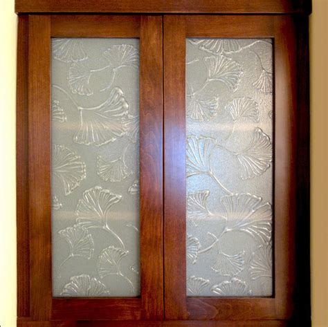 frosted glass cabinet inserts tropical kitchen san