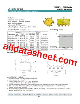 bowei integrated circuits co ltd swb403b datasheet pdf bowei integrated circuits co ltd