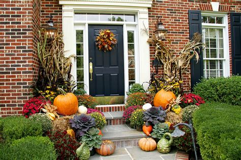 Front Garden Decor Pretty Autumn Porch D 233 Cor Ideas Modern World Furnishing Designer