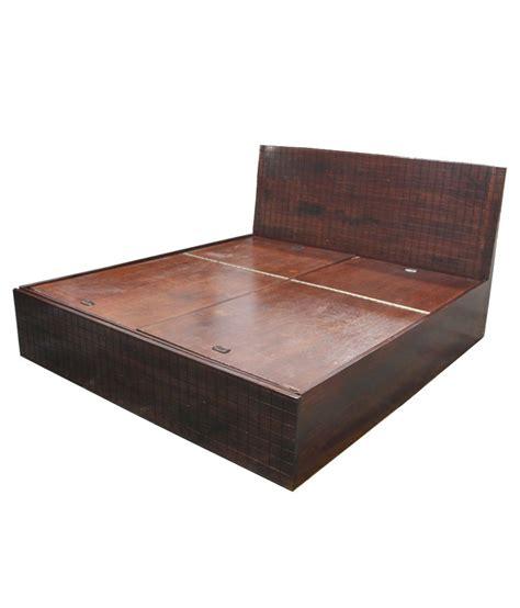 solid wood storage bed solid wood king size bed with storage buy online at best