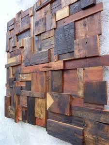 d 233 coration murale composition abstraite en vieux bois