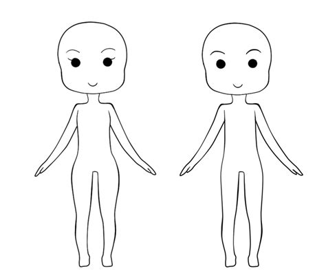 body chibi girl template bing images