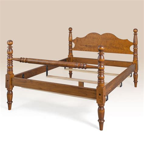 cannonball bed tiger maple wood cannonball bed queen size frame