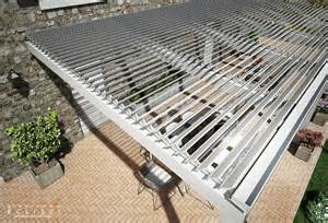 Pergola With Movable Louvers by Aluminium Pergola With Adjustable Louvers Tettoia Eclissi