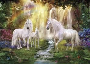 Unicorn Wall Murals waterfall glade unicorns wall mural amp photo wallpaper