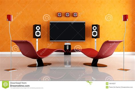 red and orange living room red and orange living room royalty free stock photography