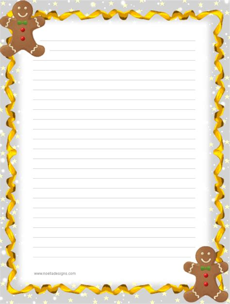printable stationery items lined stationery 9