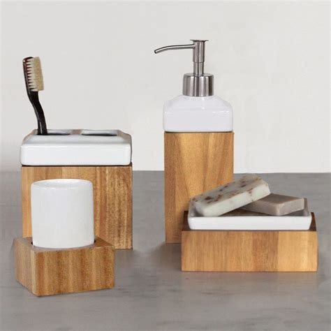 Modern Bamboo Bathroom Accessories Best 20 Modern Bathroom Accessory Sets Ideas On