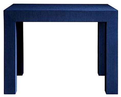 navy blue accent table bungalow 5 parsons side table in navy blue traditional