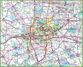 map for dallas dallas ga and surrounding cities map pictures to pin on