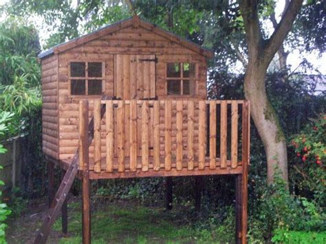 Shed On Stilts playhouse on stilts made by west lancs sheds