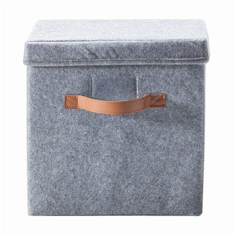 Storage Box With Lid felt storage box with lid kmart