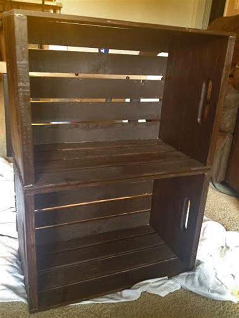 crate nightstand diy crate nightstand seeing