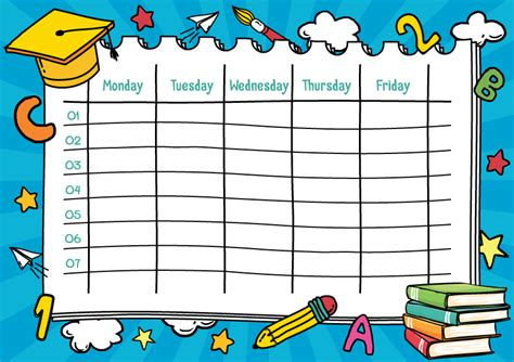 back to school school timetable templates part 2 active