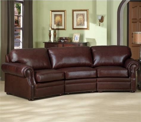 traditional leather sectional sofa charles schneider brown leather sectional sofa