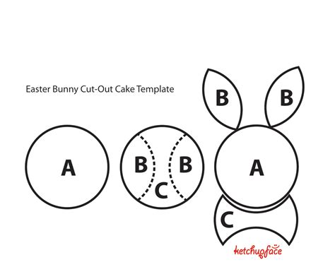bunny cake template day 2 and happy easter baking 4