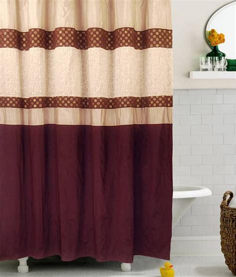 dark red shower curtain bianca designer shower curtain dark red beige buy