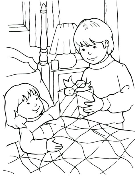 Being A Friend To The Sick Coloring Page I Can Be A Friend Coloring Page