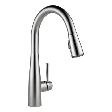 delta kitchen faucet warranty faucet 9113 ar dst in arctic stainless by delta