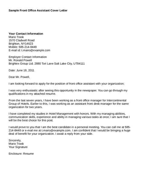 Brand Assistant Cover Letter by Sle Cover Letter For Lab Assistant Guamreview
