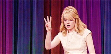 emma stone easy a gif emma stone stage gif find share on giphy