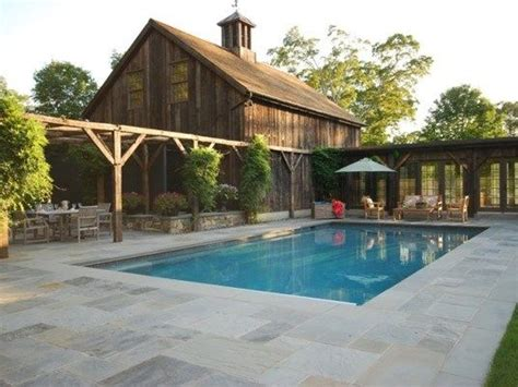 country style pools pool deck country landscape design hoffman