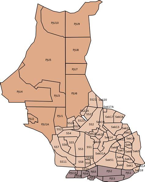 section 51a petaling jaya map list of petaling jaya city sections wikipedia